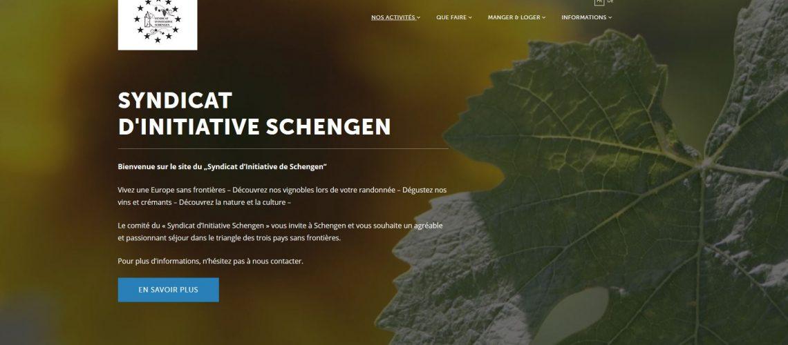 Nouveau site du Syndicat d'Initiative Schengen