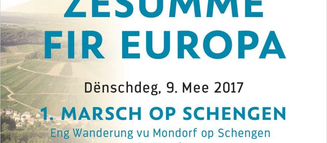 9 mai - Ensemble pour l'Europe