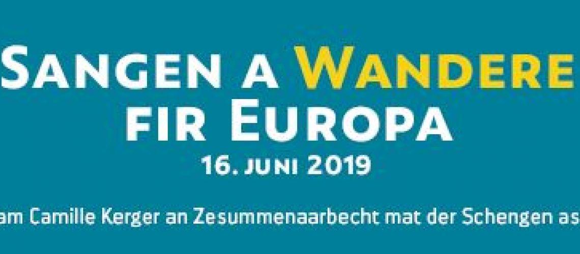 16.6.2019 Sangen a Wanderen fir EUROPA!