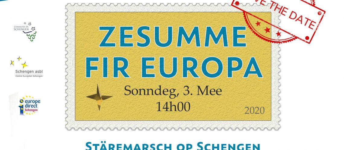 ANNULE : Zesumme fir Europa - Stäremarsch op Schengen